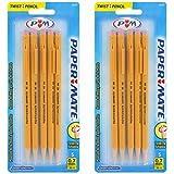 Paper Mate SharpWriter Mechanical Pencils, 0.7 mm, #2 HB, Yellow, Pack of 10