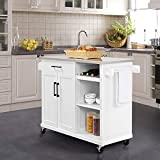 YAHEETECH Kitchen Cart with Stainless Steel