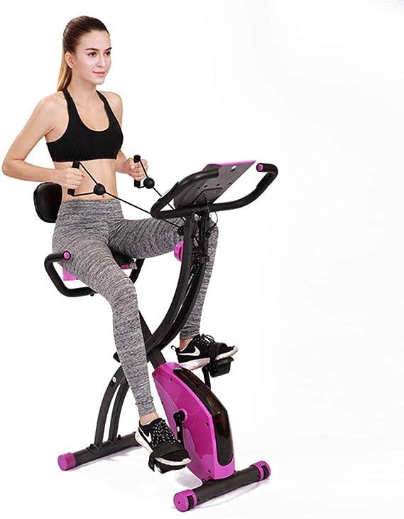 DRLGC Bicicleta de Ejercicio Plegable, Pedal para Perder Peso en el hogar Control magnético Equipo de Gimnasio de Bicicleta giratoria con Movimiento Ultra silencioso, Asiento Ajustable Vertical: Amazon.es: Deportes y aire libre