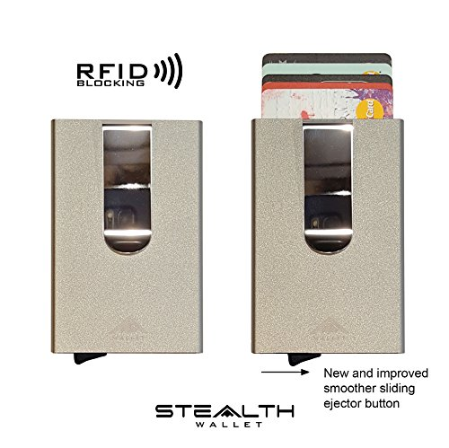Grey Holder 2018 Clip by Blue clip RFID STEALTH with MODEL Blocking Ejector JUNE Card v4 Wallet IMPROVED W Aluminium Credit money Money IUSOq
