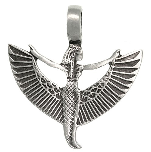 Jewelry Trends Pewter Winged Goddess Maat Isis Pendant
