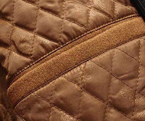Épaisse Manteau Laine Mache Kaki Simple À Longue Veste Boutonnage 4 Trench Hiver D'hiver Couleurs Parka Automne Brinny Zippé Homme vt7IqUq