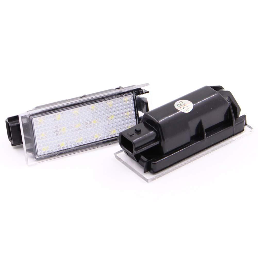 Cikuso 2Pcs Car LED Number License Plate Light For Renault Megane 2 Clio Laguna 2 Megane 3 Twingo Master Vel Satis