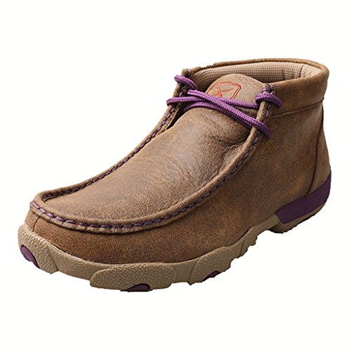 Twisted X Boots Womens Bomber Purple Driving Mocs 7 B Bomber/Purple