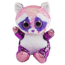 Sequin Stuffed Raccoon Plush Toy with Sparkle Sequins