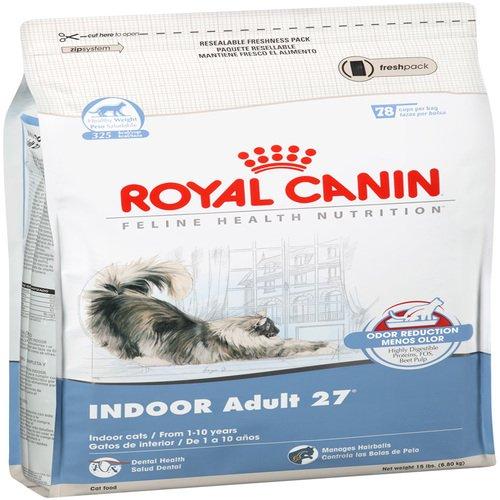 Royal Canin Dry Cat Food Indoor Adult 27 Formula 15-Pound Bag