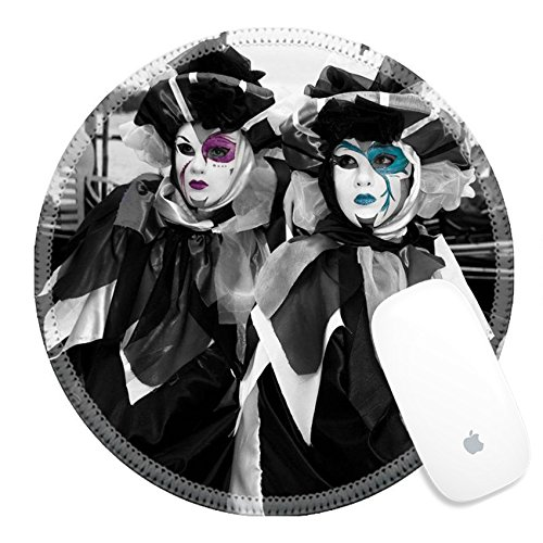 Carnival Of Venice Costumes Ideas (Luxlady Round Gaming Mousepad 27013366 Carnival in Venice and masquarade performance by the sea)
