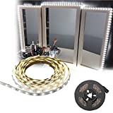 ZJchao LED Makeup Strip Light, 13ft SMD 120 LED Strip Bar Vanity Mirror Makeup Lamp Flexible Strip Light Kit,Mirror not Included(American Regulations 110-240V)
