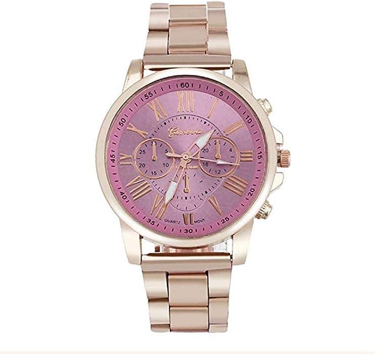 Scpink Reloj de Cuarzo para Hombres, Reloj analógico de Moda Casual para Hombres Reloj de Tres Ojos con Seis Agujas Reloj Hueco Reloj Digital Romano Correa ...