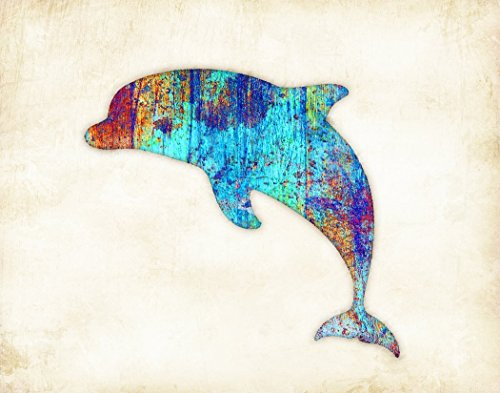 "Dolphin Leaping Watercolor Art Print by Dan Morris, 11""x14"" or (Leaping Dolphin)"