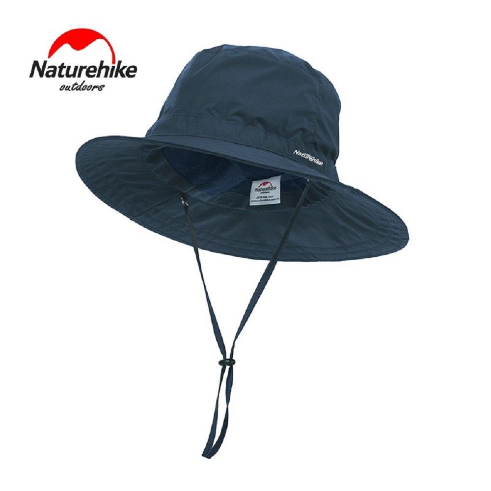 4751e198282 Amazon.com   Grandbuy Online Shop NA Summer Bucket Hat Unisex Fisherman hat  Sun UV Protection Hat for Outdoor Hiking Fishing(blue)   Sports   Outdoors