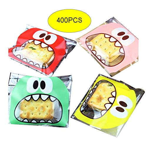 Efivas Arts 400PS Candy Bags Self Adhesive Cookie Bakery Decorating bags Biscuit Roasting Treat Gift DIY Plastic Bag