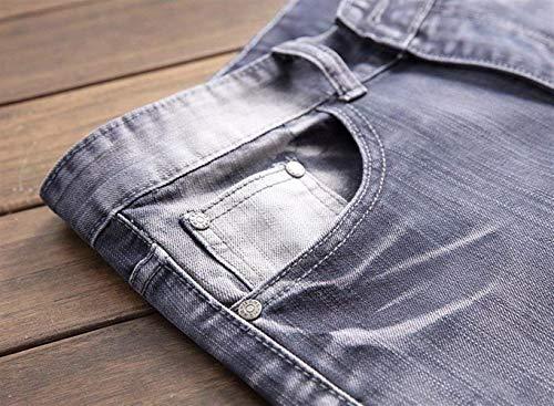 Stretch Slim Denim Jeans 2018 Grau Trousers Joven Biker Hombres Destrozado Pants Fit qwtT0S710