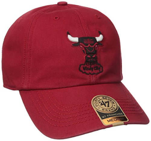 (NBA Chicago Bulls '47 Franchise Fitted Hat, Red, Medium)