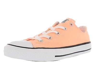 super popular c301b a2642 Converse Girls Chuck Taylor Casual Shoes Orange 2 Medium (B,M) Little Kid