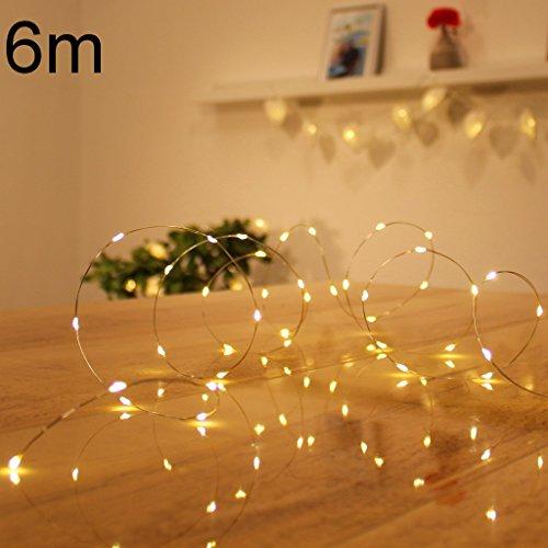 Micro LED lichterkette warmweiß Draht-Lichterkette Leuchtdraht mit mini Tropfen auf Silberdraht Weihnachtsbeleuchtung (120er LED Strom)