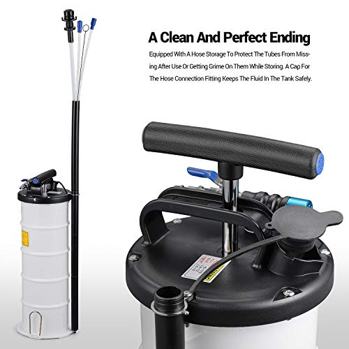 EWK Pneumatic/Manual 6.5 Liter Oil Changer Vacuum Fluid Extractor Pump Tank Remover + Storage Unit + Sealing Cap by EWK (Image #4)