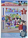 Amscan Disney Mickey Mouse Birthday Party Scene Setters Wall Decorating Kit, Pack of 12, Multi, 59'' X 65'', Plastic Others Supplies (144 Piece)