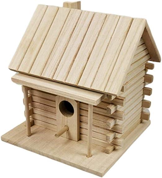 Erfula Nido para Pájaros, Casa De Madera para Pájaro,La Casa De Madera Hecha A Mano del Pájaro,Casita Decoración De Jardín, Terraza O Balcón: Amazon.es: Productos para mascotas