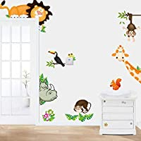 2015 Jungle Animal Kids Baby Nursery Child Home Decor Mural Wall Sticker Decal