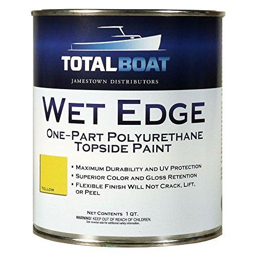 TotalBoat Wet Edge Topside Paint (Yellow, Quart)