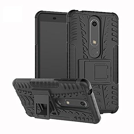 Nokia 6 (2018) Custodia Cover Case, FoneExpert® Resistente alle cadute Armatura dell'impatto Robusta Custodia Kickstand Shockproof Protective Case Cover Per Nokia 6 (2018)