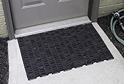 Durable Corporation 108 Recylcled Tire-Link Anti-Fatigue Mat, for Wet Areas, Herringbone Weave, 24\