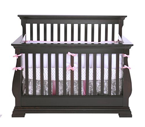 Delta Bennington Bell Curved Lifetime Crib White Ambiance