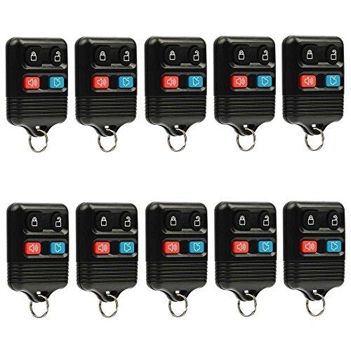 Lincoln Town Car Keyless Entry (Car Key Fob Keyless Entry Remote fits Ford, Lincoln, Mercury, Mazda (CWTWB1U331 GQ43VT11T CWTWB1U345 4-btn), Bulk Lot of 10)