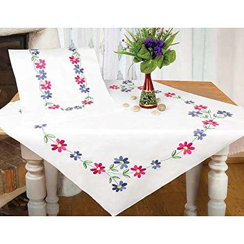 Herrschners® Spring Garland Table Runner Stamped Embroidery Kit