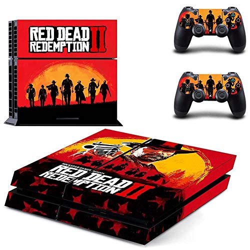 Price comparison product image Red Dead Redemption 2 PS4 Skin Console - PS4 Controller Skin Cover Vinyl Decal Protective