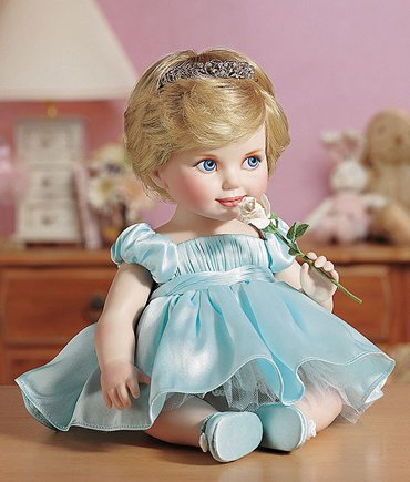 Amazon.com: Princess Diana Porcelain Portrait Baby Doll: Toys & Games