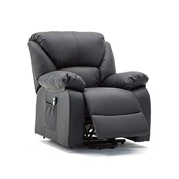 Enjoyable Homgrace Electric Oversized Recliner Rocking Sofa Chair Pu Leather Relax Swivel Armchair With Tilt High Back Extend Foot Stool Controller 330Lb Creativecarmelina Interior Chair Design Creativecarmelinacom
