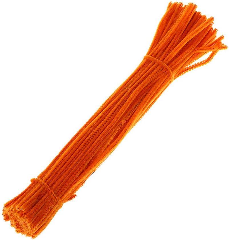 100 pcs 14 Couleurs tiges de Chenille pour Bricolage Artisanat d/écorations /école cr/éative LUCOG Fil Moelleux
