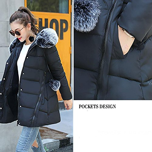 Jacket Winter Jacket Parka Anglewolf Outwear Solid Trenchcoat Thicker Streetwear Coat Collar New Casual Fit Black Fashion Down Lammy Hair Overcoat Puffa Slim Down Solid Womens Jacket Warm Yw4BqY1