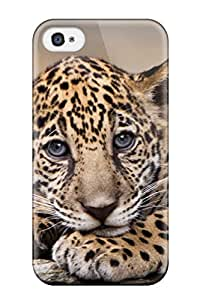 Paul N Sutton Perfect Tpu Case For Iphone 4/4s/ Anti-scratch Protector Case (baby Jaguar )