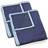 Sure-Max 2 Moving & Packing Blankets - Deluxe Pro - 80'' x 72'' (40 lb/dz weight) - Professional Quilted Shipping Furniture Pads Royal Blue