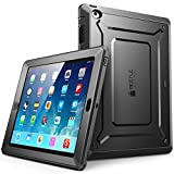iPad 2 Case, SUPCASE Apple iPad Case [Unicorn Beetle PRO Series] Full-body Rugged Hybrid Protective Case Cover with Built-in Screen Protector for the New iPad 2 (2nd Generation) (Black/Black)