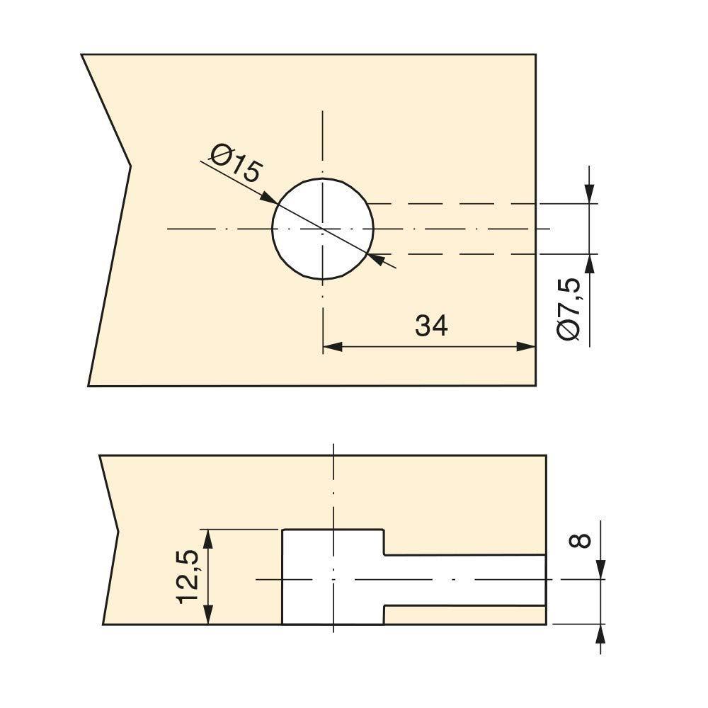1230/mm/ 1455/mm Colgante Cable Bowden cuerda BPW freno cuerda 05.089.33.84.0/HL /GL
