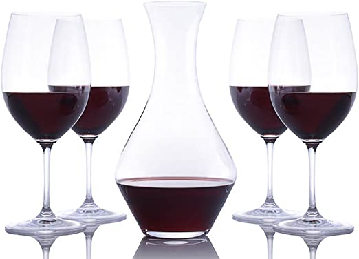 Amazon.com | Riedel Crystal Cabernet Wine Decanter and 4 Crystal ...