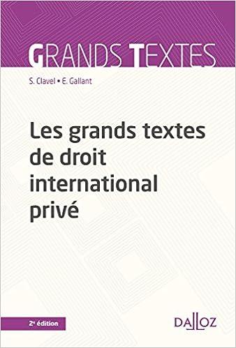 Téléchargement Les grands textes de droit international privé - 2e éd. pdf, epub ebook