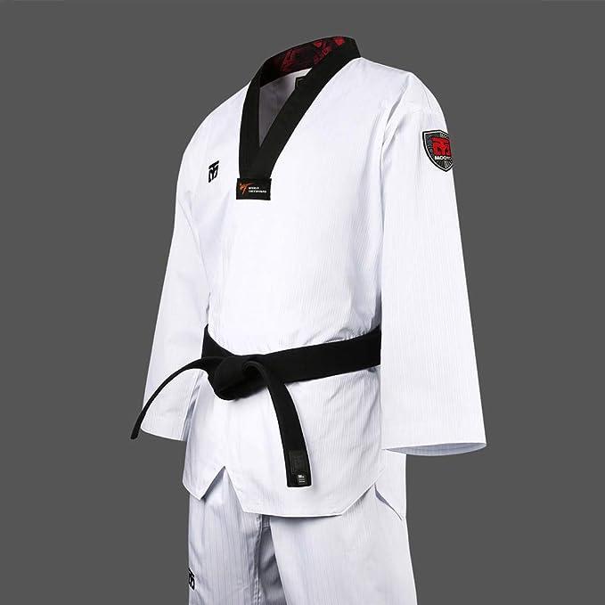 Mooto Korea Taekwondo Basic 4.5 Uniform BS4.5 Dobok Black Neck WT Logo Suit Suits Uniforms Martial Arts MMA Gym Academy School Training Match Beginner