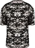 4180 Badger Men's Short Sleeve Sublimated Camo Tee - Black Digital - X-Large