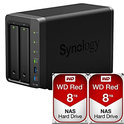 Synology DS718+ DiskStation Preconfigured with 16TB (2 x 8TB) NAS Drives Assembled & Tested by CustomTechSales
