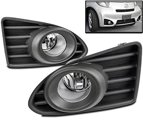 ZMAUTOPARTS For Scion Iq Hatchback Bumper Driving Chrome Fog Lights Lamps W/Bulb+Switch