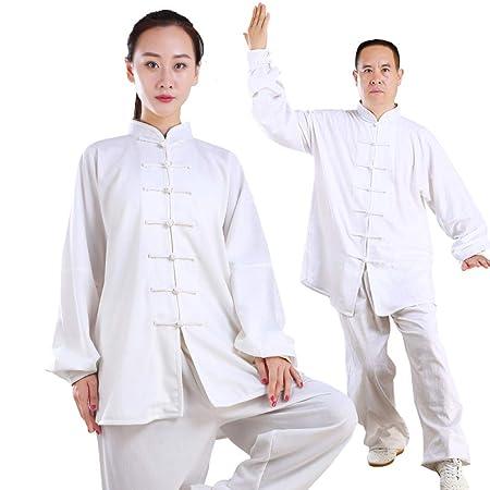 Tai Chi Ropa Mujer Hombre Transpirable Lino Tai Chi Uniforme ...