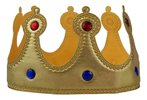(Soft Fabric Youth Sized Jeweled Royal Crown (Gold (1)