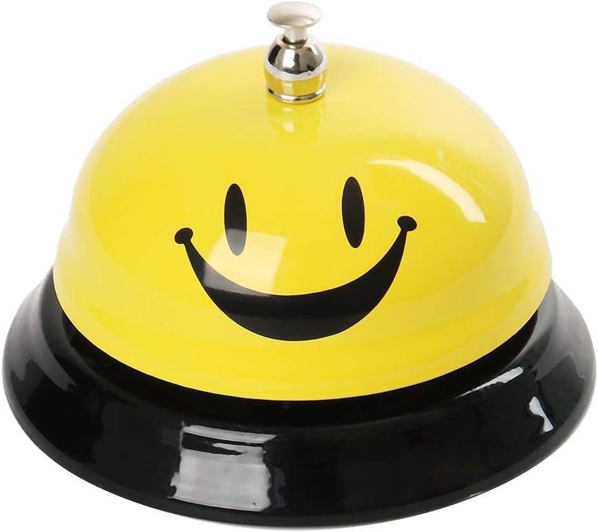 Funhoo Timbre de Recepción Clásico Emoji Cara Sonriente, Timbre de Mesa / Llamada, Campana de Servicio de Metal para Portero, Cocina, Restaurante, Bar, Mascotas Juego de Mesa: Amazon.es: Juguetes y juegos