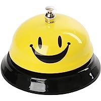 Funhoo Sonnette de Service avec Emoji Smileys Visage, Sonnette de Comptoir Cloche d'Appel Sonnette de Réception pour Restaurant, Bar, Hôtel, Cuisine