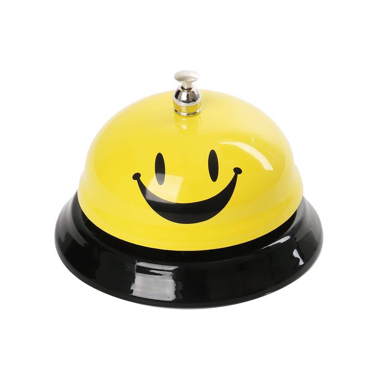 Cuisine H/ôtel Sonnette de Comptoir Cloche d/'Appel Sonnette de R/éception pour Restaurant Funhoo Sonnette de Service avec Emoji Smileys Visage Bar